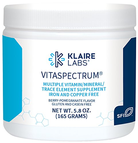 (Klaire Labs VitaSpectrum Powder - Children's Hypoallergenic Multivitamin / Mineral with 28 Essential Nutrients in Berry-Pomegranate for Kids, No Copper, Iron, Gluten or Casein (165 G / 30 Servings))