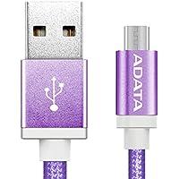 ADATA CABDAT150 Cable Micro USB-A a Micro USB-B, Macho/Macho, Color Púrpura, 1 m