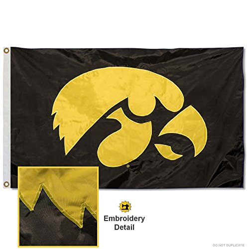 University of Iowa Embroidered and Stitched Nylon Flag