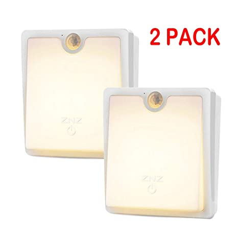 LED Sensor de movimiento luminoso de pared - Smart Lights regulable LED Night Light Cordless USB