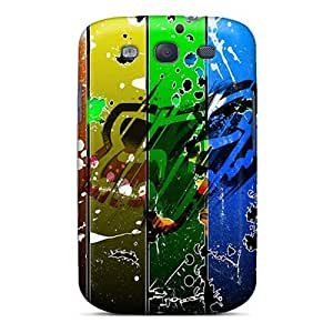Galaxy S3 Case Cover Skin : Premium High Quality Fox Racing Abstract Case