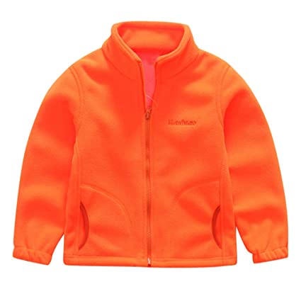 46d845f23 Kids Baby Boys Fleece Baseball Jackets Coat