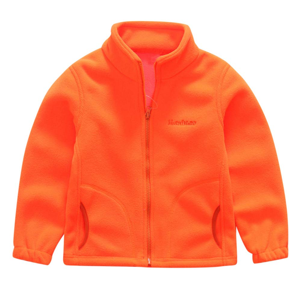 Little Girl Winter Warm Coat,Jchen(TM) Clearance! Toddler Kids Baby Little Boys Fleece Solid Jacket Baseball Coat Outwear Winter Warm Coat for 1-7 Y (Age: 6-7 Years Old, Orange)