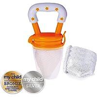 Cherub Baby Fresh Food Feeder with Replacement Nets, Orange