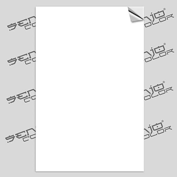 Senjo Spray de pintura, adhesivo, hojas color blanco 125 µ, 100 hojas, A4: Amazon.es: Belleza