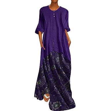 936dcdc74ded Sommerkleider Damen Langes Kleider Große Größen,Frau Vintage O ...