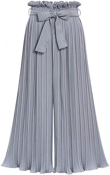 Gusspower Mujer Pantalones De Pierna Ancha Pantalon Palazzo De Vestir Culottes Pantalones Acampanados Moda Tallas Grandes Pantalon Plisado Cintura Alta Elasticos Pantalones Harem Baggy Con Cinturon Amazon Es Ropa Y Accesorios