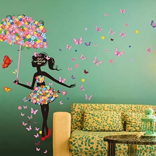 Patricks Day Ramadan Onsale Home Decor New Butterfly Flower Fairy Stickers Bedroom Living Room Walls St Easter