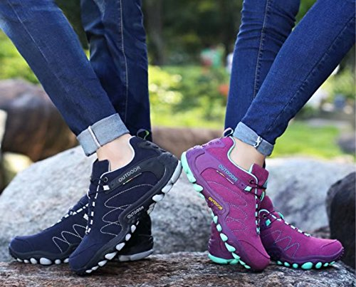 ANBOVER Unisex Waterproof Breathable Hiking Boot Cross-Country Shoes Navy Male pdhWG