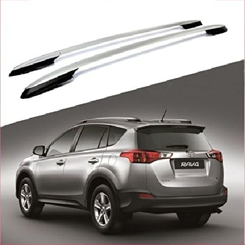 Nova For 13 14 15 16 17 Toyota RAV4 Silver OE Style Roof Rack Side Rails Bars Luggage Pair Aluminum ( Install link Attached ) Nova Roof