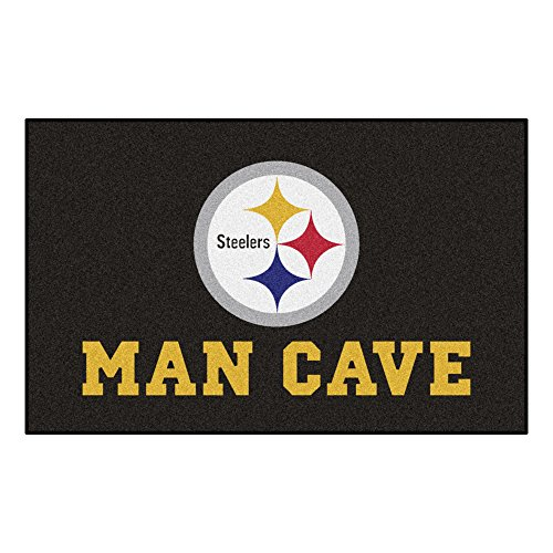(FANMATS 14358 NFL Pittsburgh Steelers Nylon Universal Man Cave UltiMat Rug)