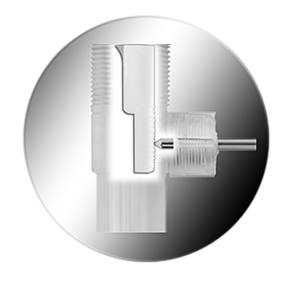Gray Finish Body without Overflow Chrome in Tailpiece Dia 1.25 in PF WaterWorks PF0324-CH-GR-NO ClogFREE Pop-Up Drain for Bathroom Sink//Lavatory with Never Clog Magnetic Stopper
