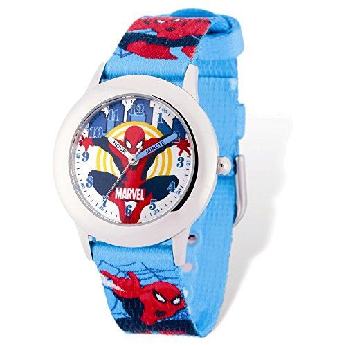 Marvel+Watches Products : Marvel Spiderman Blue Band Time Teacher Watch