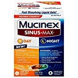 Mucinex Sinus-Max Liquid Gels - Day & Night 24 ct. (Pack Of 8)