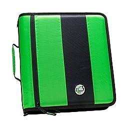 Case-it 2-Inch Ring Zipper Binder, Neon Green (D-251-NeoGrn)