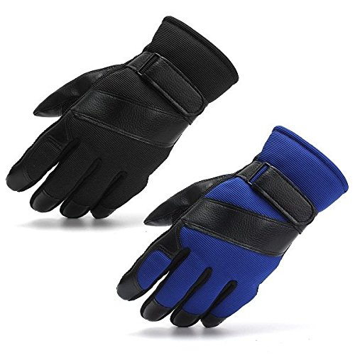 Bazaar 1 Pair Ski Leather Gloves Thermal Full Finger Mitten for Outdoor Driving Cycling Motorcycle Big Bazaar