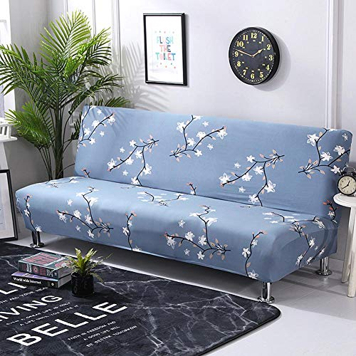 SHZONS Sofa Cover, Elastic Thicker Folding Anti-Slip Waterproof Sofa Futon Cover for Patio Couch Bench - Printed Cover Futon