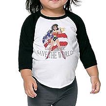 JXMD Kids Boy's & Girl's Wonder Woman Tshirt Black