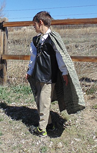 Boys 5-7 adjustable Dragon Slayer with Scaled cape! by Fru Fru and Feathers Costumes & Gifts