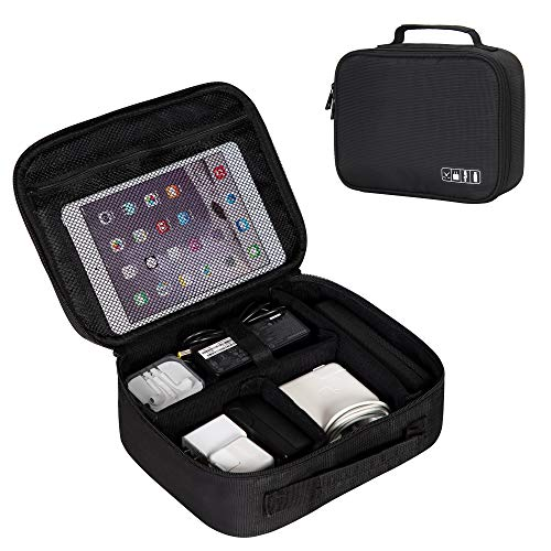 Hynes Eagle Electronics Organizer Travel Case Gadgets Storage Bag with Replaceable Inner Velcro -