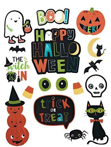 Halloween window clings for Kids, Halloween Classroom Decorations - 34 Total Decals ()