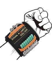 Grsta Magnetische Armband, Magnetische Polsband met 15 Krachtige Magneten Verstelbare Klittenband Magneetarmband Beste Cadeau Voor Mannen Vaderdag Kerst DIY Gereedschapsgordel