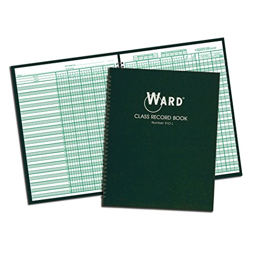 (Ward 910L Class Record Book, 38 Students, 9-10 Week Grading, 11 x 8-1/2, Green (HUB910L))