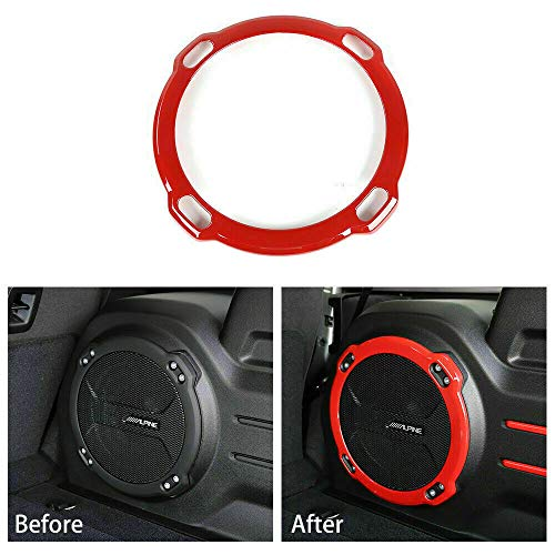 RT-TCZ Red ABS Trunk Interior Speaker Cover Trim for 2018-2020 Jeep Wrangler JL Rubicon