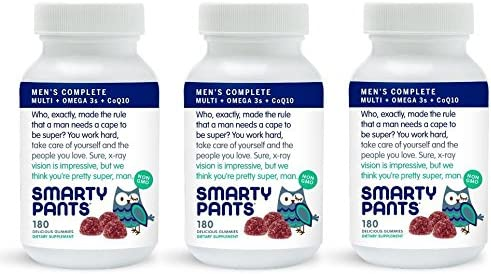 SmartyPants Gummy Vitamins SmartyPants Men s Complete Gummy Vitamins Multivitamin – 180 ct Pack of 3