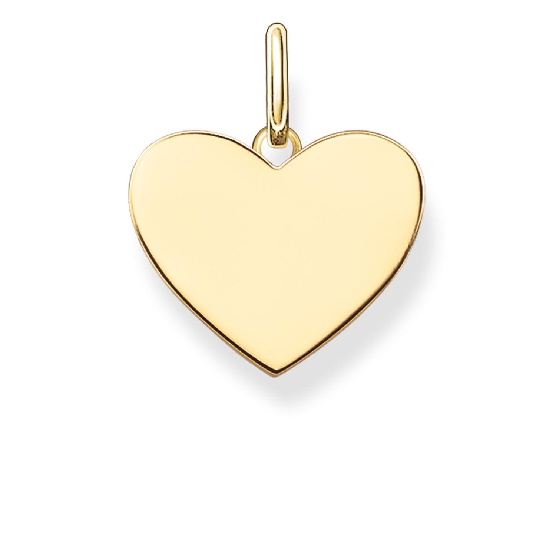 Thomas Sabo Damen-Anhänger Love Bridge Herz 925 Sterling Silber 750 gelbgold vergoldet 1.5 cm LBPE0002-413-12 Thomas Sabo GmbH