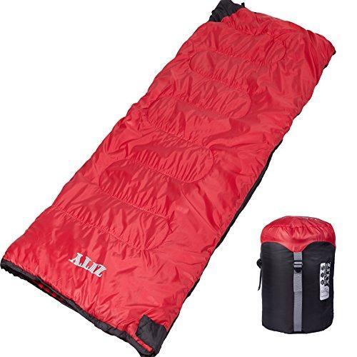 Geek Lighting 4 Season Envelop Sleeping Bag for Camping Indoor Use Cool Weather 23-41F 2LB Rectangular Cotton Sleeping Sack w/Pull-String Carry Bag ()