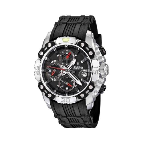 Festina Men's Tour de France F16543/3 Black Rubber Quartz Watch with Black Dial