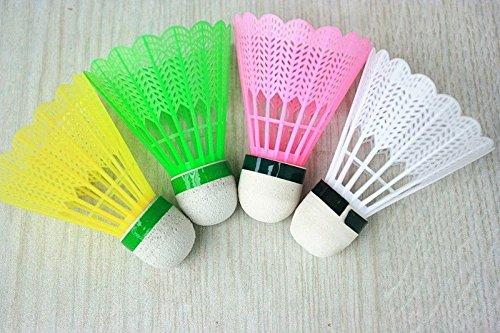 WALLER PAA Lot of 12 Training Colorful Plastic Shuttlecocks Badminton Ball Game - Repair Near Bean Bag Me