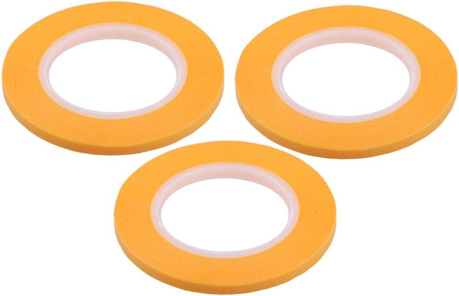3Pcs 18m Painting Masking Tape DIY Spraying Painting Curve Tapes Tools 4mm