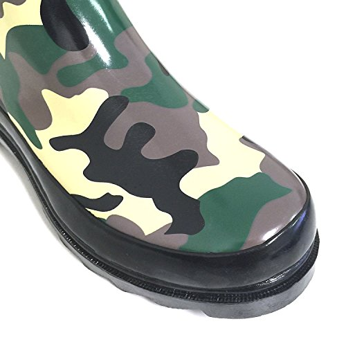 Shoes Calf Wellies G4U Fashion Rain Womens Buckle Mid Multiple Styles High Camo Color Knee Rubber Boots Snow 0HZpT0
