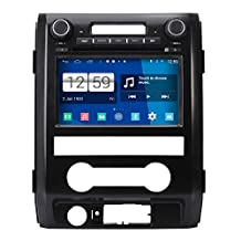 RoverOne Android 4.4.4 In Dash Car DVD GPS Navigation System for Ford F150 Raptor 2009 2010 2011 2012 with Stereo Radio Bluetooth SD USB Mirror Link Canbus Touch Screen
