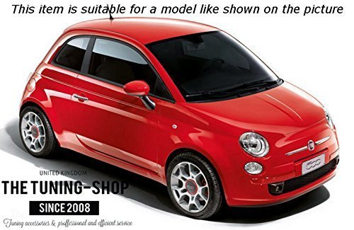 The Tuning-Shop Ltd For Fiat 500 2007-2015 Shift /& E Brake Boot Ivory Leather Italian Colours 500 Embroidery Logo