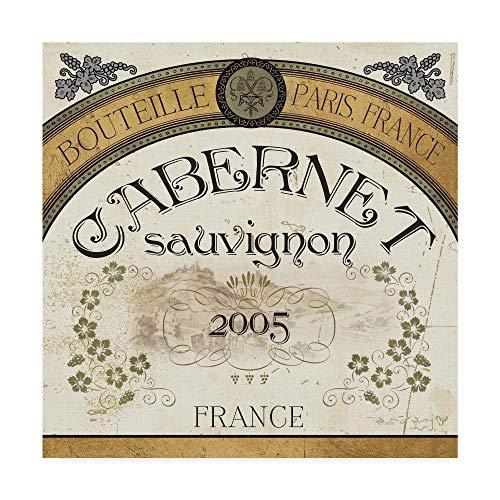 Trademark Fine Art Wine Labels I by Pela Studio, 35x35-Inch Fine Art, Multicolor