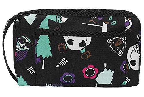 Prestige Medical Compact Carry Case Woodsy Animals Black Model 745