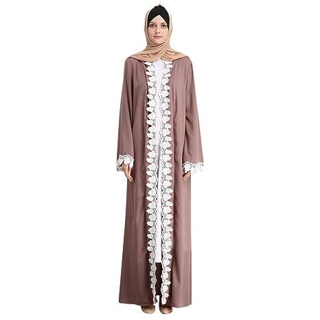 f0098e1148 Muslim Dresses for Women Lace Long Sleeve Dress Abaya Kaftan Gown Clothing Maxi  Long Prom Dresses