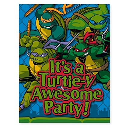Amazon.com: Teenage Mutant Ninja Turtles invitaciones 8 ct ...