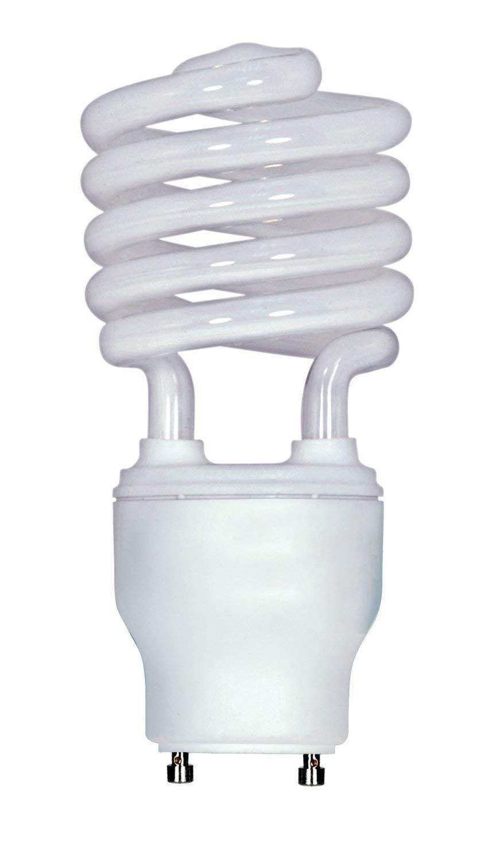 (6-Pack) Satco S8210 23-Watt 4100K GU24 Base Mini Spiral Compact Fluorescent Lamp, 100W Equal