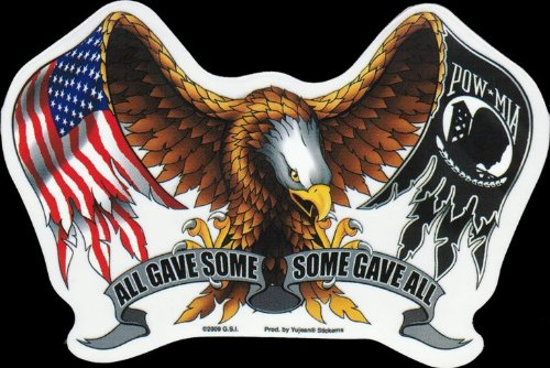 Hot Leathers - All Gave Some and Some Gave All American Eagle - Sticker / Decal ()