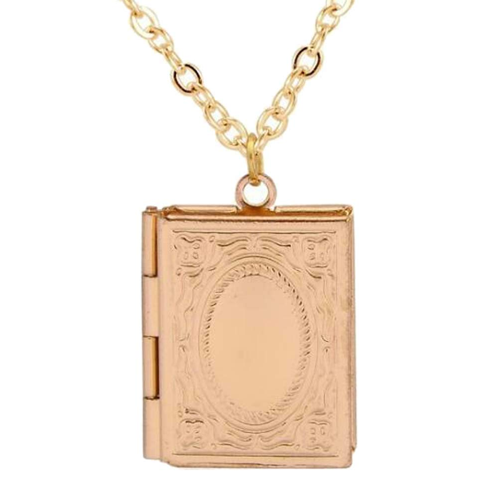 Photo Living Memory Bible Flower Engraved Locket Necklace 6 Colors Customizable Religious Jewelry