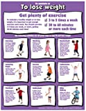 """Lose Weight Exercise 17"""" X 22"""" Laminated Poster"""