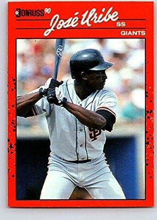 Amazoncom 1990 Donruss 335 Jose Uribe Mint Baseball Mlb Giants