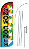 """Cheap NEOPlex – """"Snow Cones 12-Foot Super Swooper Feather Flag with Heavy-Duty 15-."""