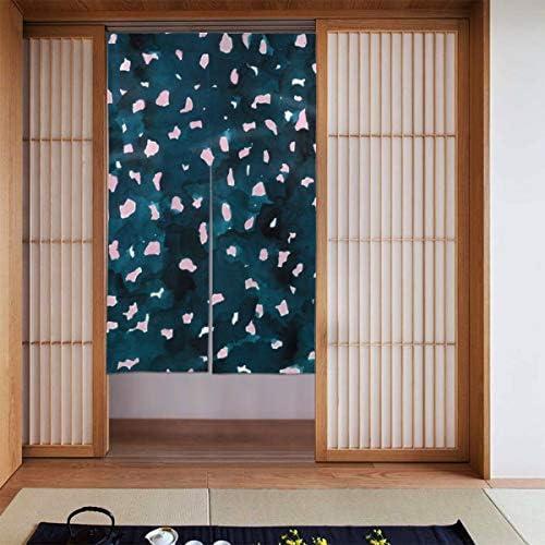青とピンクのヒョウの皮 間仕切り ドアカーテン スクリーン のれん おしゃれ 玄関 寝室 酒場 布 仕切りカーテン 取付簡単 出入り楽々 カーテン シャワーカーテン シェーディング 断熱 人気 装飾 和風 北欧風 86X143CM