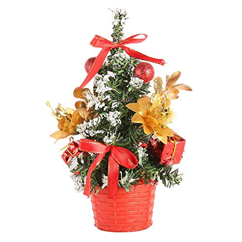 20cm-40cm Mini Christmas Trees Decorations Small Pine Tree Placed on Desktop Christmas,R,20 cm