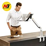 NB North Bayou Sit Stand Laptop Monitor Mount Stand Arm Height Adjustable Computer Standing Desk Workstation for 11''-17'' Notebook (white)